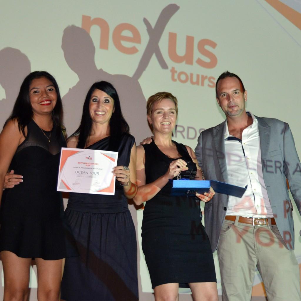 Ocean Tour recibe el premio al Proveedor de Mayor Calidad en los Suppliers Awards 2016 en Cancun